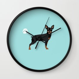 min pin miniature doberman pinscher farting dog cute funny dog gifts pure breed dogs Wall Clock