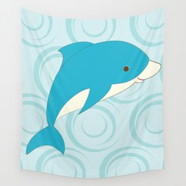 Shock Cousteau Dolphin Wall Tapestry