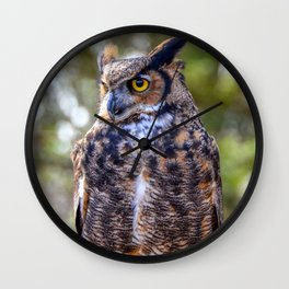 Great Horned Owl by Teresa Thompson Wall Clock