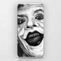 jack nicholson iPhone & iPod Skins featuring Jack Nicholson Joker Stippling Portrait by Joanna Albright