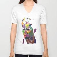 derek hale V-neck T-shirts featuring Derek Hale Mosaic Portrait by Liz Swezey