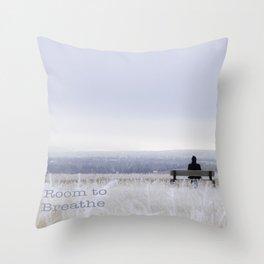 Winter walk; Room to breathe Throw Pillow