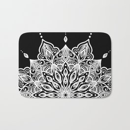 black monika's mandala Bath Mat