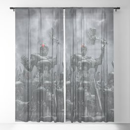 Once More Unto The Breach Sheer Curtain