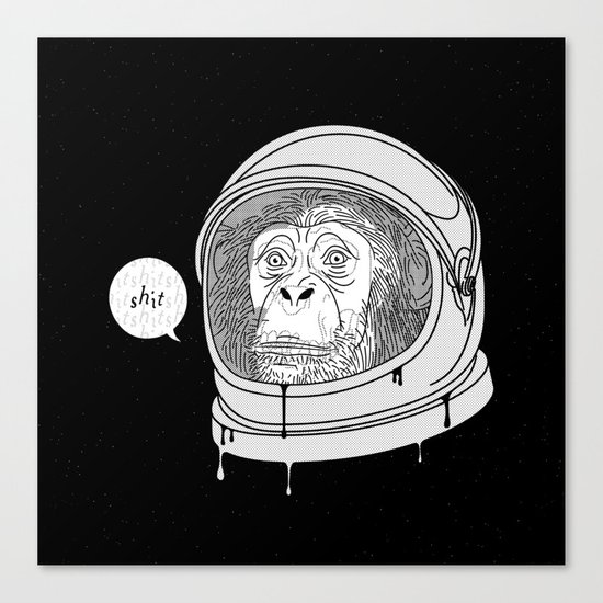 One Small Step, One Giant Ape Canvas Print