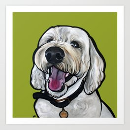 Kermit the labradoodle Art Print
