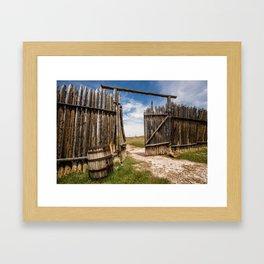 Historic Fort Bridger Gate - Wyoming Framed Art Print