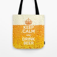 beer Tote Bags featuring Beer by Text Guy
