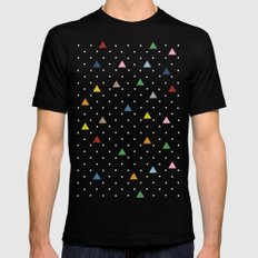 Pin Point Triangles Black MEDIUM Mens Fitted Tee Black