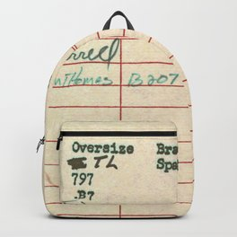 Library Card 797 Backpack