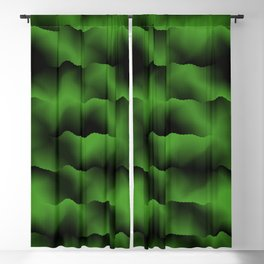 Emerald Green Waves Blackout Curtain