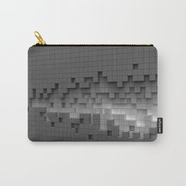 Grey cubes mosaic - torn wall Carry-All Pouch