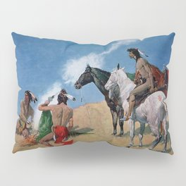 "Frederic Remington Western Art ""Smoke Signals"" Pillow Sham"