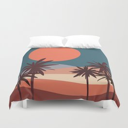 Abstract Landscape 13 Portrait Duvet Cover