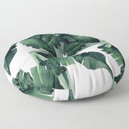 Banana Leaves Pattern Green Floor Pillow