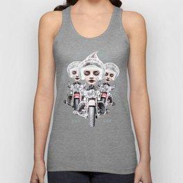 BORN BE WILD 3 surreal biker helmet girls Unisex Tank Top