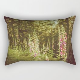 A New Day II Wildflowers at Dawn - Nature Photography Rectangular Pillow