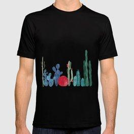 Cactus Garden on light background T-shirt
