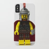 gladiator iPhone & iPod Cases featuring Roman gladiator Minifig by Jarod Pulo