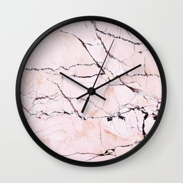 Light pink marble detail Wall Clock