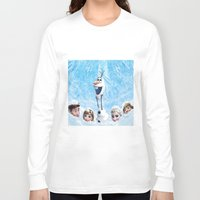 olaf Long Sleeve T-shirts featuring FROZEN OLAF  by BESTIPHONE5CASESHOP