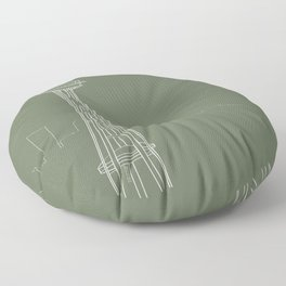 Seattle by Friztin Floor Pillow