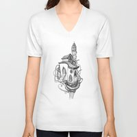 castle in the sky V-neck T-shirts featuring Castle in the sky by Mary Koliva