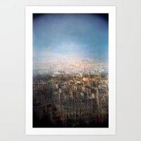 Paris Multiple Exposure  Art Print