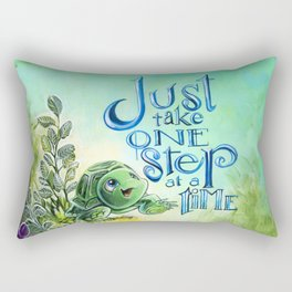 Just take one step at a time Rectangular Pillow