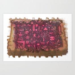 jam on toast Art Print