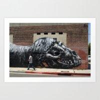 Los Angeles, Monster, Street Art Art Print
