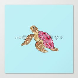 Turtley Too Cool Canvas Print
