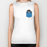 pocket Biker Tanks featuring Pocket Whale by Steven Toang