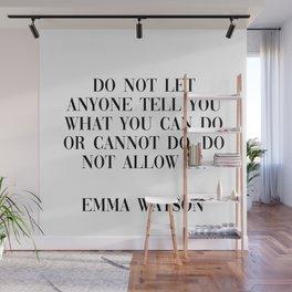 emma watson quote Wall Mural