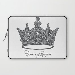 County of Queens | NYC Borough Crown (GREY) Laptop Sleeve