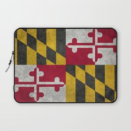 State flag of Flag of Maryland, Vintage retro style Laptop Sleeve
