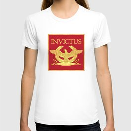 Invictus Eagle on Red T-shirt