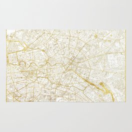 Berlin Map Gold Rug