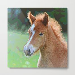 AnimalPaint_Horse_20171201_by_JAMColorsSpecial Metal Print
