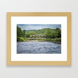 White Bridge Framed Art Print