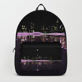 Moonlight In The City Skyline Design Backpack