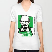 cook V-neck T-shirts featuring The Cook by Ferguccio
