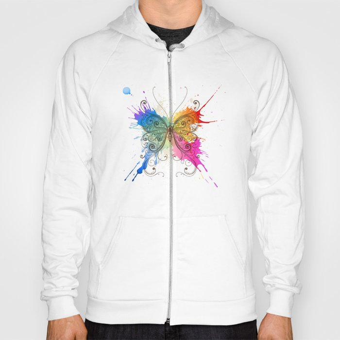 Butterfly Color Explosion Hoody