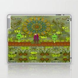 Meditative Garden got visit of lady panda and the floral skulls Laptop & iPad Skin