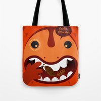 cookie monster Tote Bags featuring Cookie Monster by Ilias Sounas
