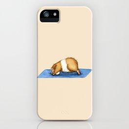 Yoguineas - Downward Facing Dog iPhone Case