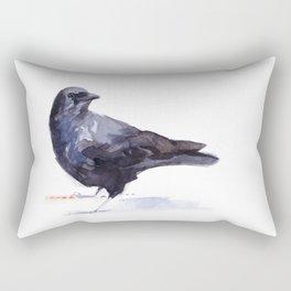 Crow #3 Rectangular Pillow