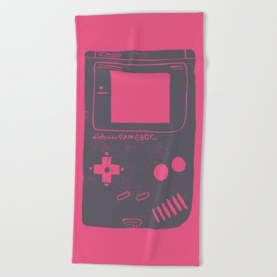 Game Boy on pink Beach Towel