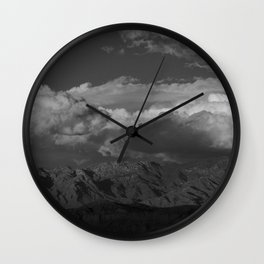 Virgin Mountains - B & W Wall Clock