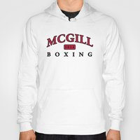 boxing Hoodies featuring Boxing by EastwardCarrot